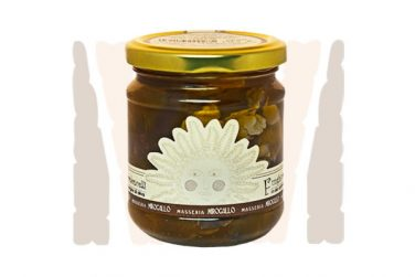 cardoncelli mushrooms in extra virgin olive oil preserved food pickles belfiore masseria mirogallo farm basilicata lucanian