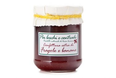 strawberries and bananas jam strawberries and bananas marmalade boschi e contrade italian jam italian marmalade basilicata lucanian