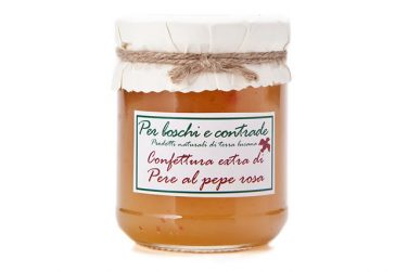 confettura extra di pere al pepe rosa marmellata di pere al pepe rosa boschi e contrade confettura italiana marmellata italiana basilicata lucania