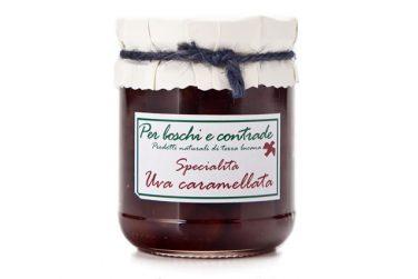 confettura extra di uva caramellata marmellata di uva caramellata boschi e contrade confettura italiana marmellata italiana basilicata lucania