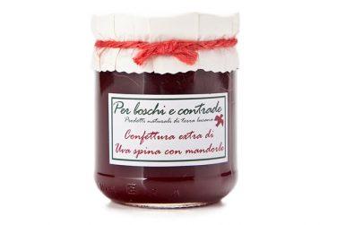 confettura extra di uva spina con mandorle marmellata di uva spina con mandorle boschi e contrade confettura italiana marmellata italiana basilicata lucania