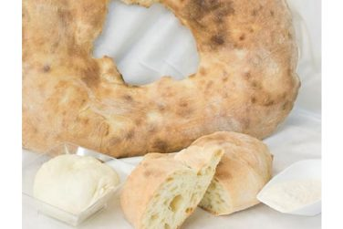 focaccia with black pepper strazzata bakery products semolina wood oven palese bakery basilicata lucanian