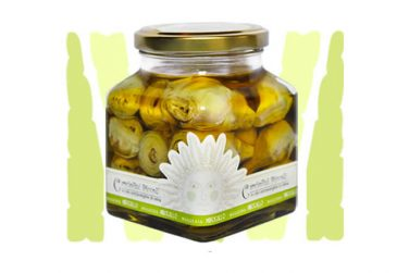 baby artichokes in extra virgin olive oil preserved food pickles belfiore masseria mirogallo farm basilicata lucanian
